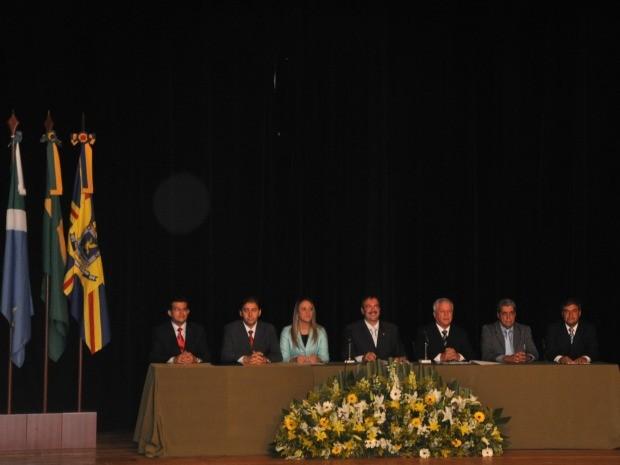 Posse do prefeito eleito Alcides Bernal, vice e vereadores em Campo Grande MS (Foto: Maressa Mendonça/G1 MS)