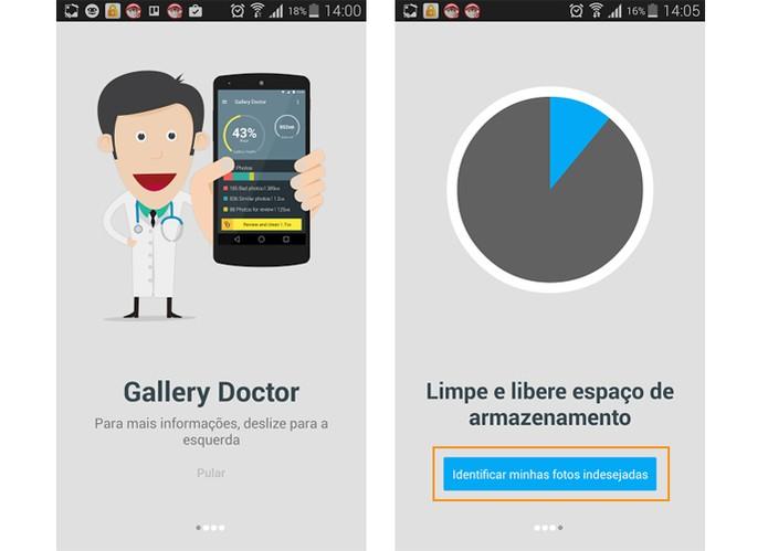 Inicie a análise do sistema em busca das fotos com o app Gallery Doctor (Foto: Reprodução/Barbara Mannara)