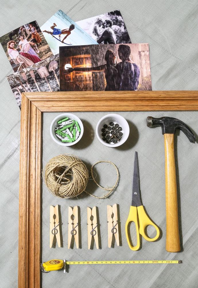 Faça em casa ensina como fazer um varal de fotos (Foto: Fábio Rocha/Gshow)