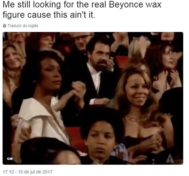 Beyoncé de cera (Foto: Reprodução/Twitter)