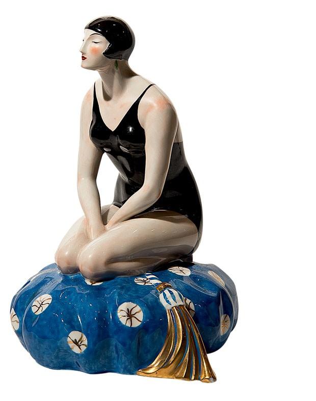 Luminária alemã de porcelana, 1930 (Foto: divulgação)