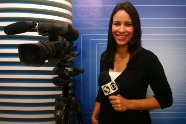 Cibele Moreira é repórter da TV Rio Sul desde 2012 (Foto: Cibele Moreira/ Arquivo Pessoal)