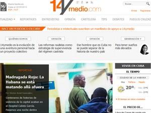 Portal independente cubano 14ymedio entrou no ar nesta quarta-feira (Foto: Reprodução)