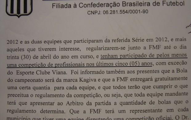 Ata - reunião Federação Maranhense (Foto: Zeca Soares)