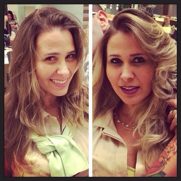 Andréia Sorvetão faz mudança de visual no salão (Foto: Reprodução/Instagram)