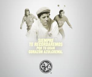 Homenagem do América do México a Roberto Bolanos (Foto: Divulgação)
