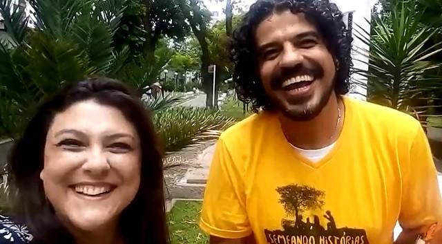 Janaina Hohne e Alexandre Camilo  (Foto: Reprodução/TV Tribuna)