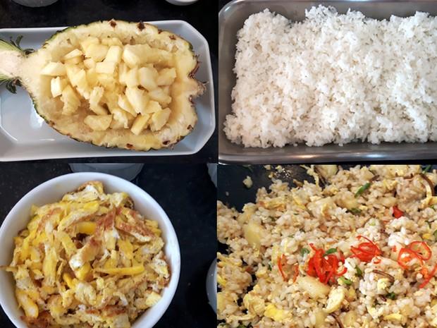 Além do tenébrio, misture o abacaxi com a farofa e a omelete; acrescente pimenta  (Foto: Júlia Groppo/G1)