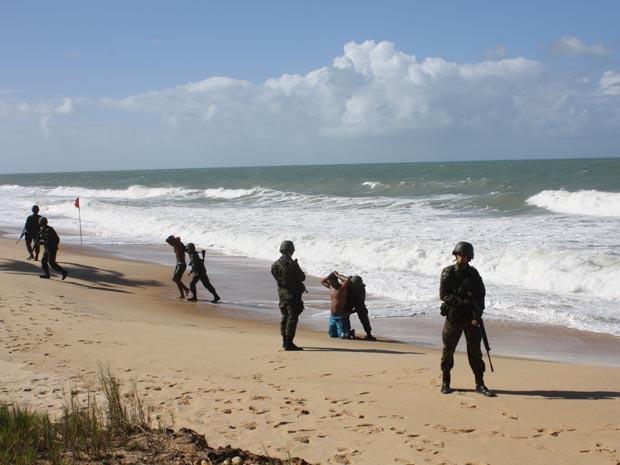 Simulação aconteceu na tarde desta terça-feira (10) (Foto: Divulgação/Marinha)