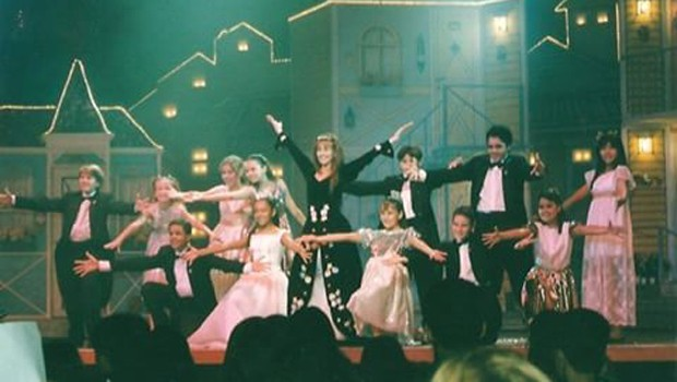 Show de 'Chiquititas': elenco vinha ao Brasil para turnês (Foto: Reprodução)