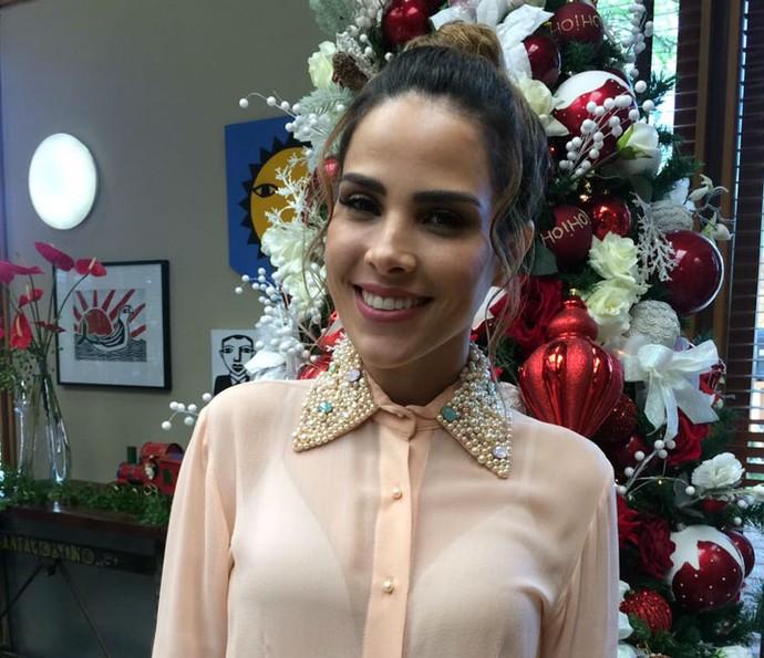 Wanessa Camargo contou no 'É de Casa' que ama Natal (Foto: Paula Oliveira / Gshow)