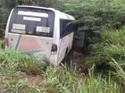 Passageiros de micro-ônibus ficam feridos em acidente na BR-251