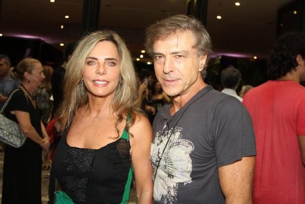 Bruna Lombardi e Carlos Alberto Riccell (Foto: Thiago Duran/AgNews)