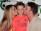 Danielle Winits e Cássio Reis comemoram aniversário do filho
