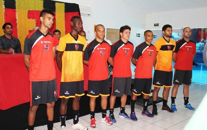 Flamengo-PI, atacantes (Foto: Josiel Martins)