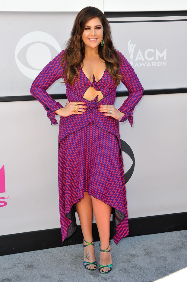Hillary Scott, do grupo Lady Antebellum, no American Country Music Awards (Foto: Getty Images)