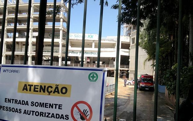 Arena Palmeiras acidente (Foto: Felipe Zito)