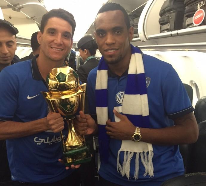 Thiago Neves e Digão Copa do Rei da Arábia (Foto: Arquivo pessoal)