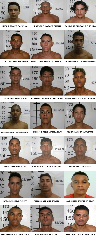 De acordo com a Sgap, 23 presos ainda estão foragidos (Foto: Divulgação/Sgap)