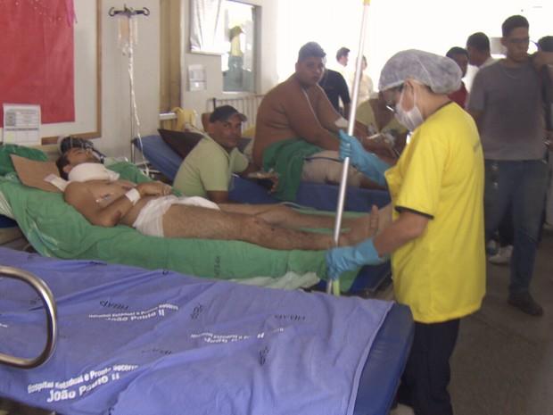 Denúncias de superlotação levaram o Cremero a realizar a fiscalização no Pronto Socorro (Foto: Reprodução/Rede Amazônica Rondônia)