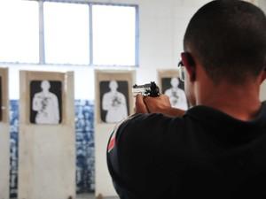 Agentes da GCM de Praia Grande ganharão estande de tiro (Foto: Jairo Marques / Prefeitura de Praia Grande)