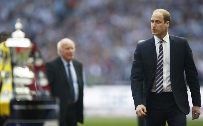 Príncipe William na final da Copa da Inglaterra (Foto: REUTERS)