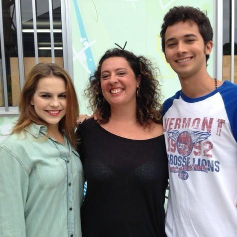 Juliana Beti com Bianca Salgueiro e Gabriel Falcão (Foto: Arquivo pessoal)