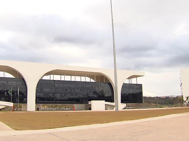 A Cidade Administrativa traduz a modernidade dos traços do arquiteto (Foto: Reprodução/TV Globo)