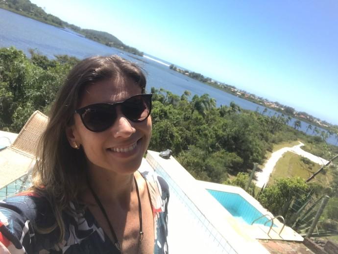 Camille Reis foi até Ibiraquera  (Foto: Mistura/RBS TV)