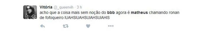 Tweet Matheus  (Foto: Reprodução)