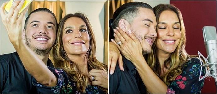 Wesley Safadão e Ivete Sangalo gravam clipe 'Parece que o Vento'. (Foto: Divulgação)