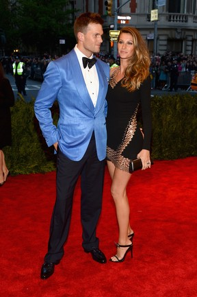Tom Brady e Gisele Bündchen no baile do MET (Foto: AFP)