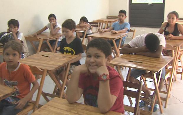 Curso de desenho é direcionado para crianças entre 8 e 12 anos (Foto: Bom Dia Amazônia)
