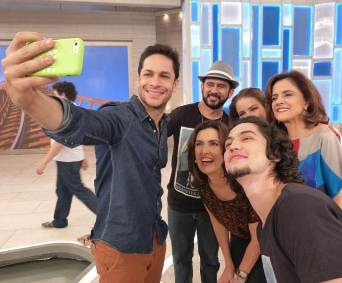 Selfie da galera (Foto: Viviane Figueiredo Neto/ Gshow)