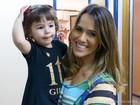 Fernanda Pontes mima filha nos bastidores de 'Flor' e já pensa em aumentar a família