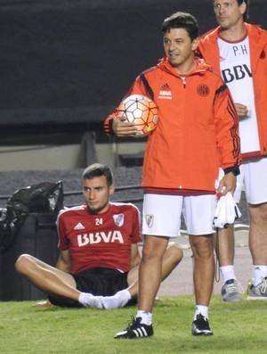 Gallardo técnico River Plate Morumbi (Foto: Marcelo Hazan)