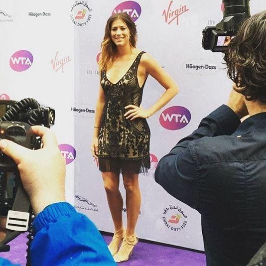 Tenista Garbiñe Muguruza na festa antes de Wimbledon (Foto: Reprodução / Instagram)