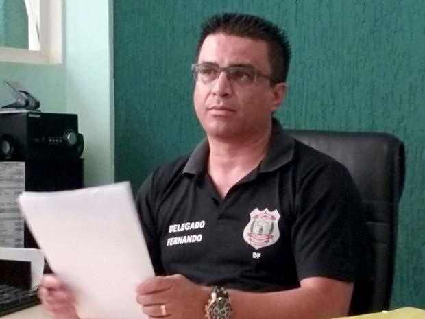 O delegado da 19ª DP, em Ceilândia, no DF, Fernando Fernandes (Foto: Isabella Formiga/G1)