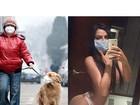 Depois de topless em avião, Suzy Cortez faz selfie usando máscara