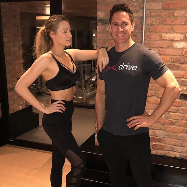 Blake Lively e Don Saladino, seu personal trainer (Foto: Instagram/Reprodução)
