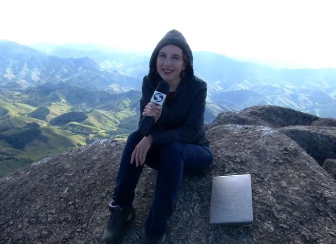 Teresa Freitas chegou ao topo da Pedra Selada (Foto: Rio Sul Revista)