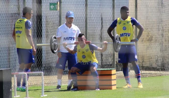 Juninho faz trabalho físico no Bahia (Foto: Divulgação / E.C. Bahia)