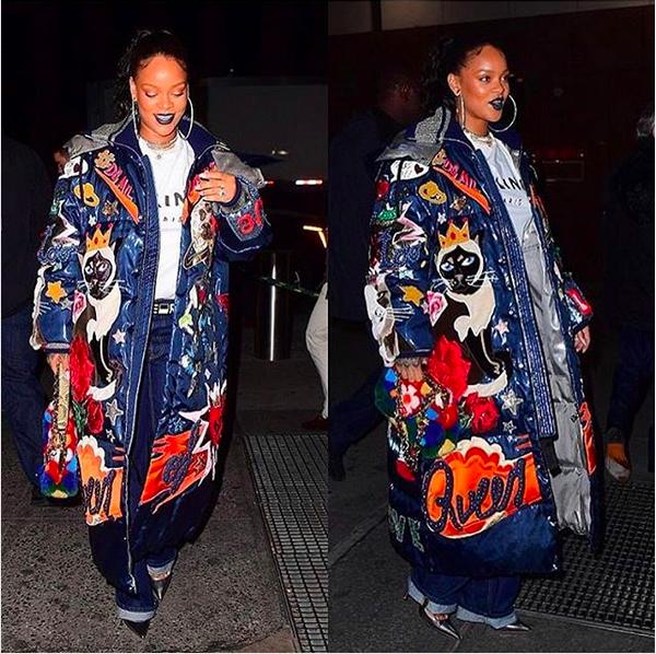 A cantora Rihanna com sua suposta aliança de noivado (Foto: Instagram)