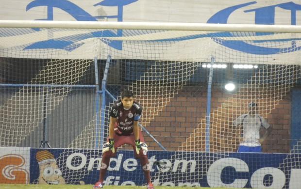 Ivan goleiro Joinville Ressacada Avaí (Foto: Marcelo Silva)