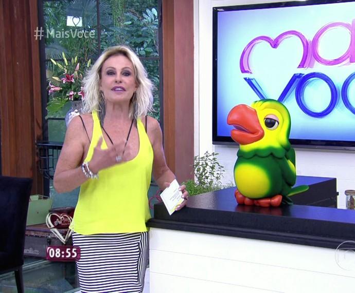 Ana Maria e Louro José volta de férias (Foto: TV Globo)