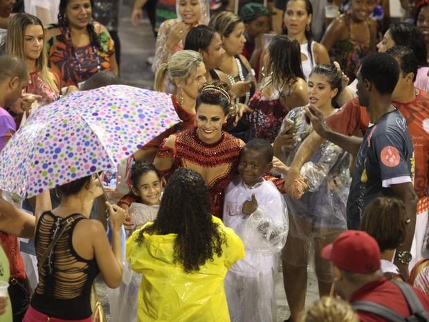Viviane Araújo na Marquês de Sapucaí, no Centro do Rio (Foto: Claudio Andrade/ Foto Rio News)