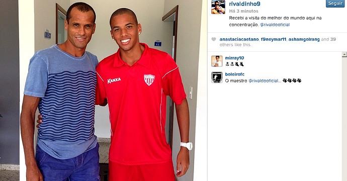Rivaldo e Rivaldinho, concentração Mogi Mirim (Foto: Reprodução Instagram)