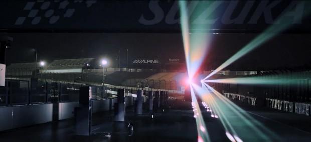 Show de luz e som na homenagem da Honda a Ayrton Senna (Foto: Reprodução)