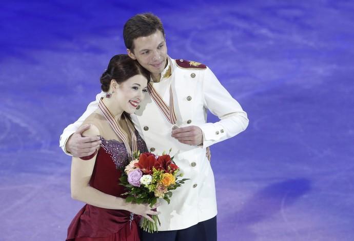 Ekaterina Bobrova foi flagrada no doping por uso de Meldonium (Foto: AP Photo/Petr David Josek)