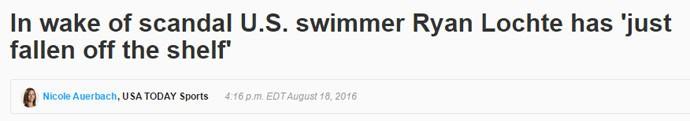 USA Today repercute caso do nadador